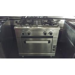 Cucina 4 fuochi con forno a...