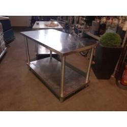 Tavolo con ripiano INOX